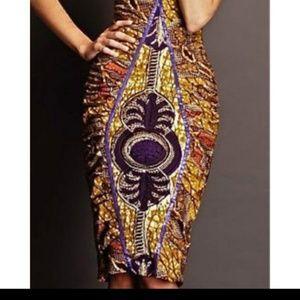Dresses & Skirts - High Waist Ethnic Print Skirt